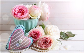 Preview wallpaper Roses, love heart, romantic