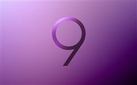Preview wallpaper Samsung Galaxy S9 logo, purple style