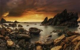 Испания, Астурия, море, побережье, камни