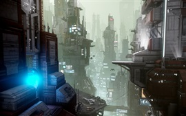 Preview wallpaper Star Citizen, future city, art picture
