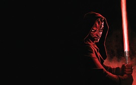 Preview wallpaper Star Wars, Darth Maul, lightsaber, art picture