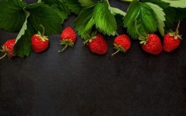 Preview wallpaper Strawberry, green leaves