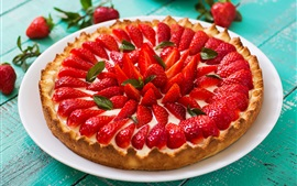 Preview wallpaper Strawberry pie, fruit cake