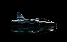 Сухой военный самолет Су-30, человек, черный фон