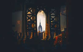 Preview wallpaper USA, The Empire State Building, New York, bridge, arch, night