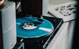 Vinyl player, retro style