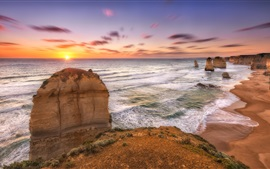 Preview wallpaper 12 Apostles coast, sea, Melbourne, Victoria, Australia