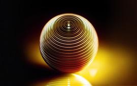 Volumen de bola 3D, sombra, luz