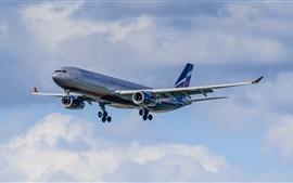 Vuelo de avión Airbus A330, cielo