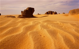 Preview wallpaper Algeria, dunes, desert, stones