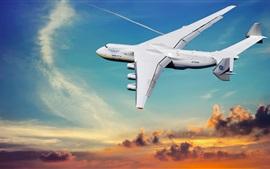 Aperçu fond d'écran Antonov 225 avion, ciel