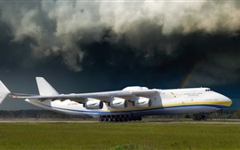 Antonov An-225 plane at airport