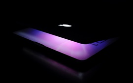 Preview wallpaper Apple laptop, light, darkness
