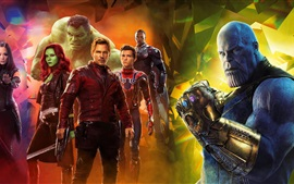 Preview wallpaper Avengers: Infinity War, 2018 movie, superheroes