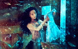 Preview wallpaper Beautiful mermaid, skirt, underwater