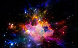 Preview wallpaper Beautiful universe, colorful, stars, starry, shine light