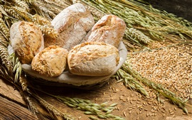 Preview wallpaper Bread, wheat, food