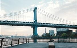 Бруклинский мост, Нью-Йорк, Город, США