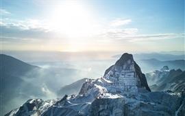 Carrara Marble Quarries, Italy, mountains