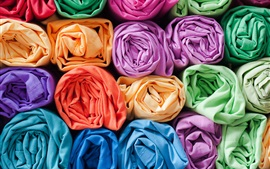Colorful fabrics, cloth