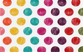 Colorful polka dots, circles, texture