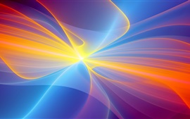Preview wallpaper Colorful rays, glare, abstract picture