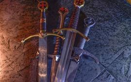 Aperçu fond d'écran Épée croisée, lame