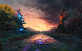 Preview wallpaper DOTA 2, darkness, art picture