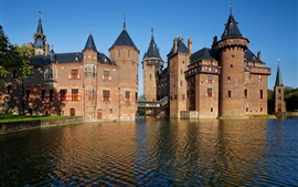 Preview wallpaper De Haar Castle, Netherlands, pond