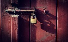 Door, lock, dust
