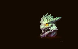 Preview wallpaper Dragon, art drawing, black background