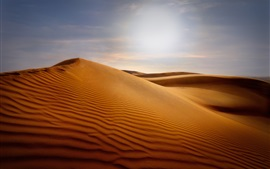 Preview wallpaper Dunes, desert, sand, sun