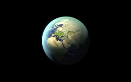 Preview wallpaper Earth, planet, black background