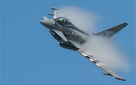 Preview wallpaper Eurofighter Typhoon multipurpose fighter, smoke