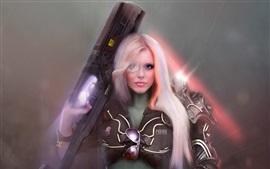 Vorschau des Hintergrundbilder Fantasy-Mädchen, Polizei