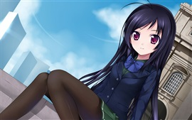 Preview wallpaper Fashion anime girl, street