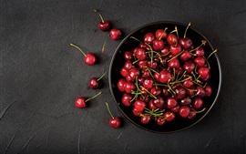 Cereja fresca, fotografia de frutas