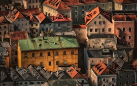 Preview wallpaper Germany, Bavaria, Passau, city, houses