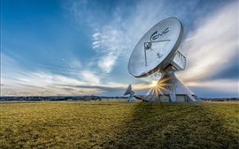 Germany, Bavaria, antenna, grass, sky, clouds, sunrise
