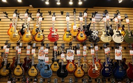 Preview wallpaper Guitar shop