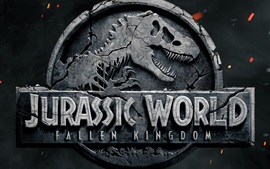 Jurassic World: Fallen Kingdom 2018, logotipo do filme