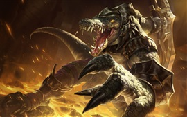 Preview wallpaper League of Legends, monster, teeth, art picture