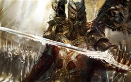 Preview wallpaper Legend of the Cryptids, warrior, sword