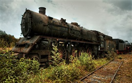 Preview wallpaper Locomotive, old train, railway