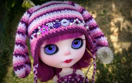 Preview wallpaper Lovely doll, dandelion, toy girl