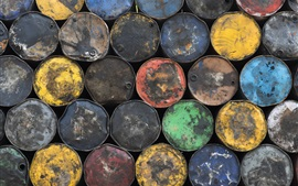 Preview wallpaper Many oil barrels, colors