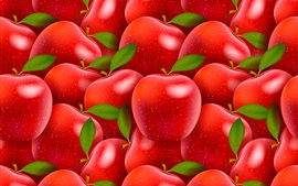 Preview wallpaper Many red apples, creative design