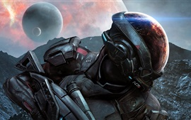 Preview wallpaper Mass Effect, EA games, space, planet