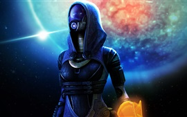 Preview wallpaper Mass Effect, alien, mask