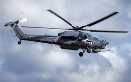 Preview wallpaper Mi-28N helicopter flight